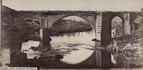 Puente de San Martin en el siglo XIX. Fotografía de Jean Laurent. Frances Loeb Library, Graduate School of Design, Harvard University. H. H. Richardson Collection