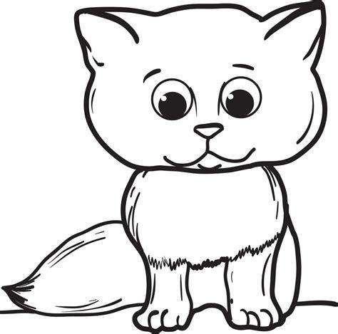 printable cartoon cat coloring page  kids supplyme