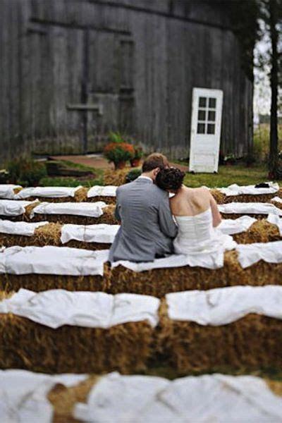 Barn Wedding Ceremony Ideas   Wedding, Hay bale seating