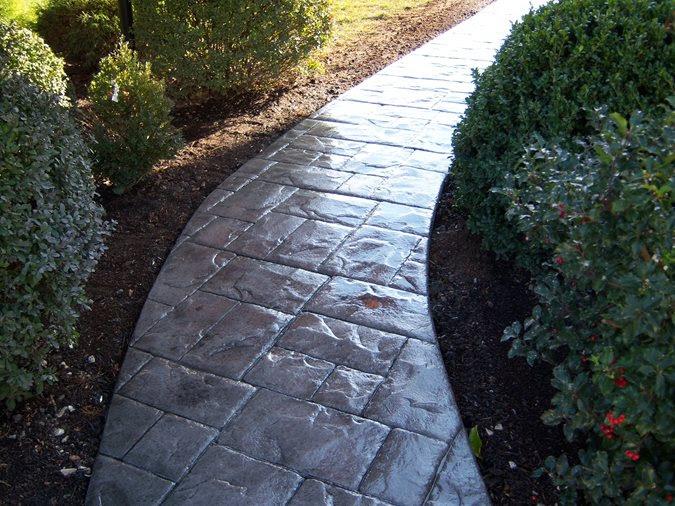 stamped concrete walkway concrete walk concrete walkway camocrete_7597