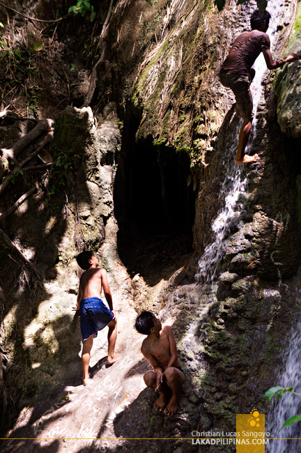 Rock Climbers at Iligan City's Pampam Falls