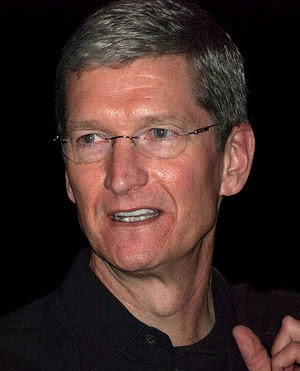 Tim Cook, Apple COO, in january 2009, after Ma...