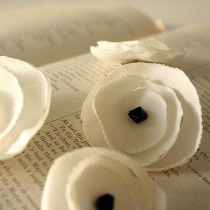 Recycled Silky Poppy Pin--Ivory