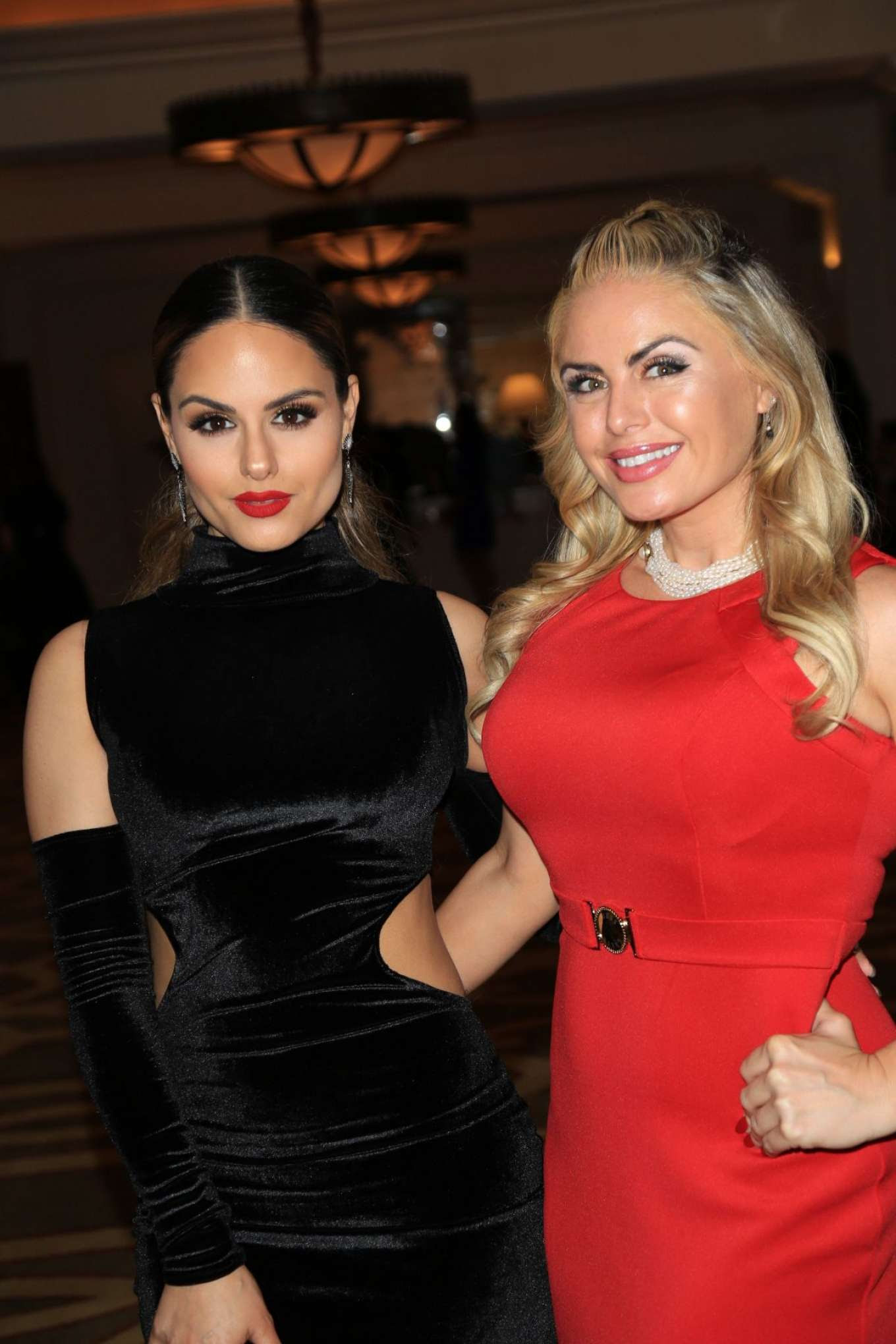 Pia Toscano and Tia Barr at Montage Hotel in Beverly Hills