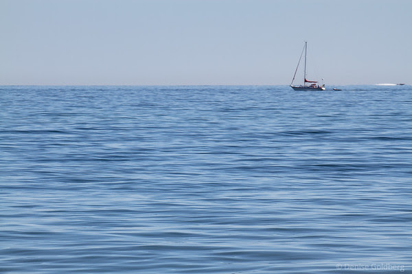 sailboat, ocean blue