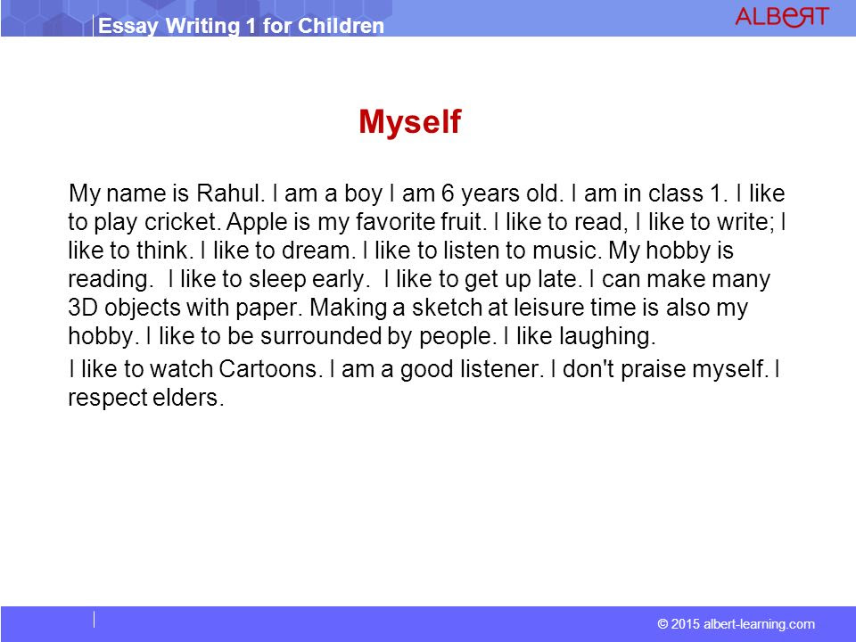 Myself essay a how to write good about helps