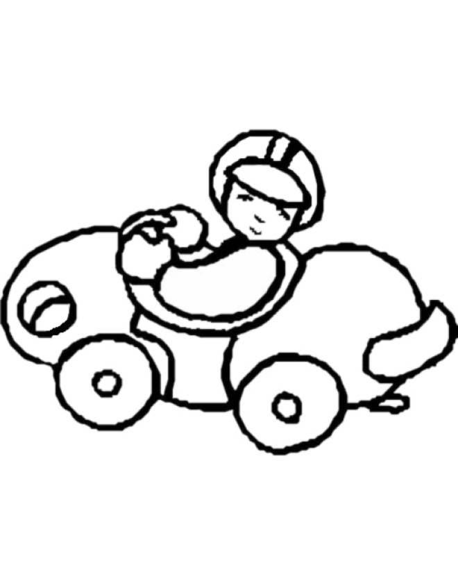 Disegno Di Macchinina Da Colorare Per Bambini