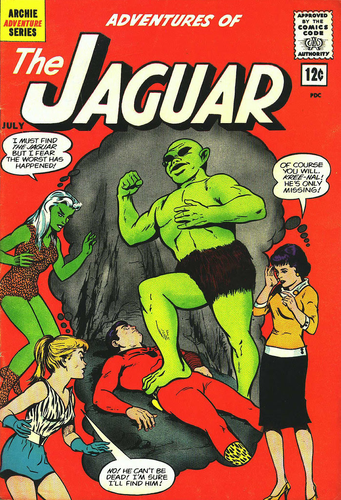 Adventures of the Jaguar #7 John Rosenberger Cover (Archie, 1962)