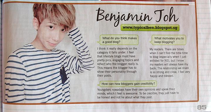 typicalben on teenage magazine interview