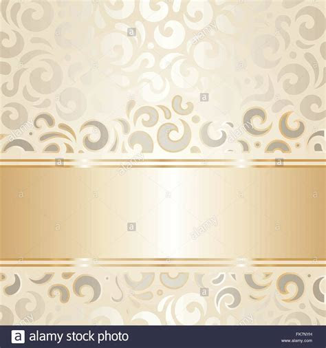 Retro wedding background wallpaper design ecru & gold