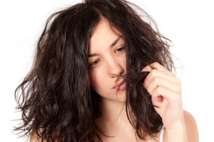 Masque naturelle pour les cheveux sec