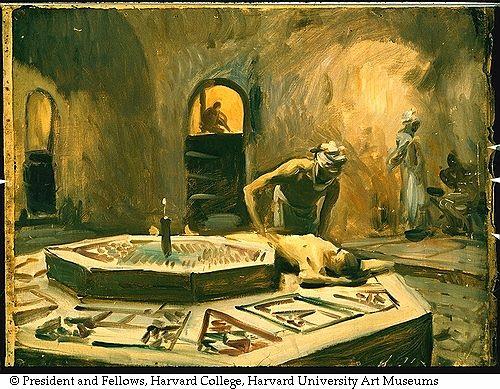 Sargent, John Singer (1856-1925) - 1890-91 - Massage in a bath house
