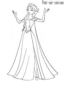 frozen coloring pages  print and color
