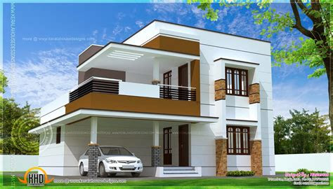 simple modern home design square feet kerala house plans