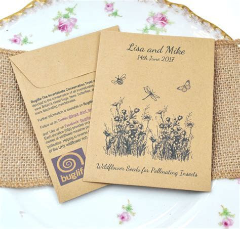 Buglife Seed Packet Charity Wedding Favour   Wedding Ideas