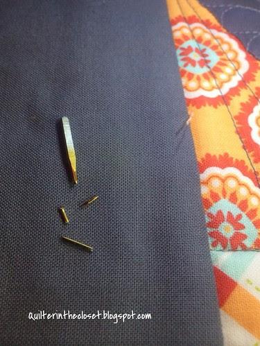 Shattered needle