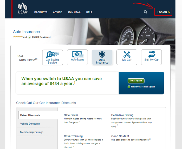 Usaa Auto Insurance Login And Make A Payment Information Dp Tech Group