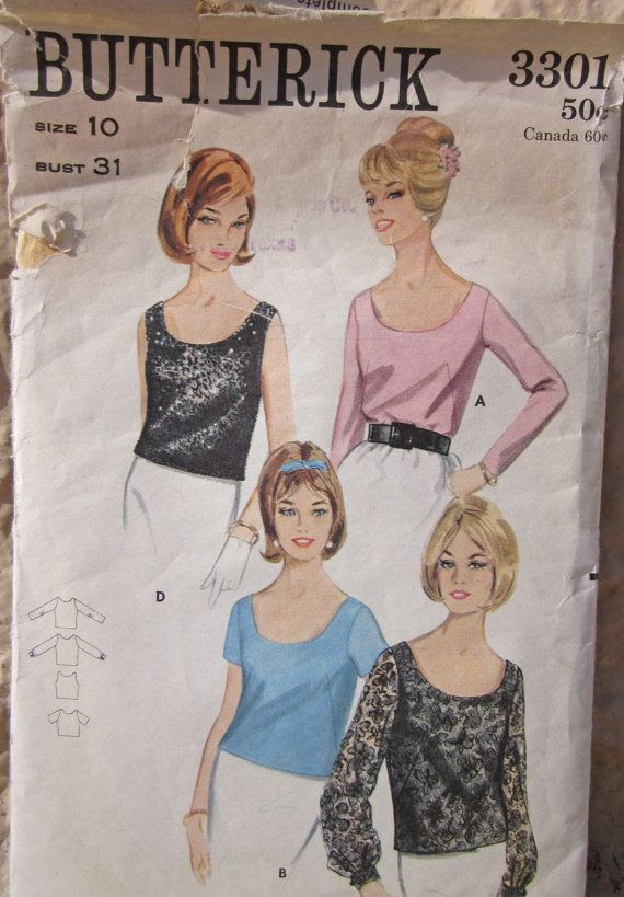 Vintage 1960s Sewing Pattern Butterick 3301 Quick by desertcottage, $8.00
