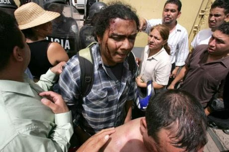 Violenza e repressione in Honduras © (Foto Indymedia Chiapas)