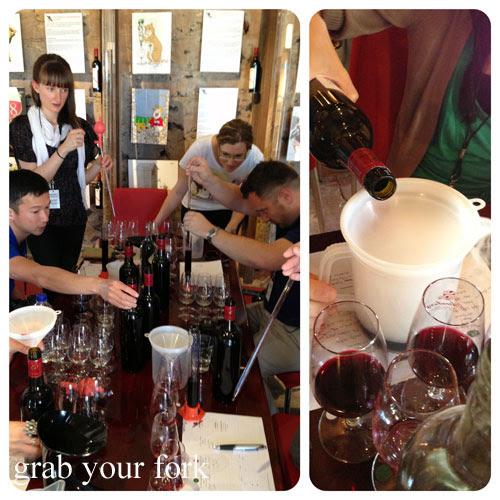 wine blending at d'arenberg estate, mclaren vale