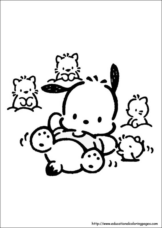 Download Pochacco Coloring pages - Educational Fun Kids Coloring Pages and Preschool Skills Worksheets