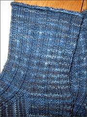 Midsummer Paradise socks, close up