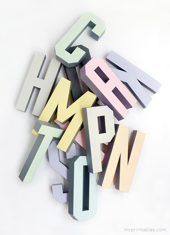 Free 3D Alphabet Templates - Mr Printables | ⎙ PRINT me for free ...