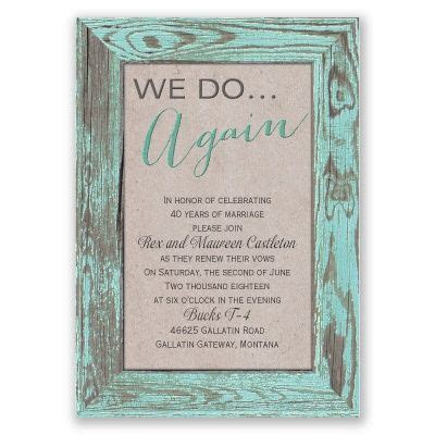 Vow renewals, The rustic and Invitations on Pinterest