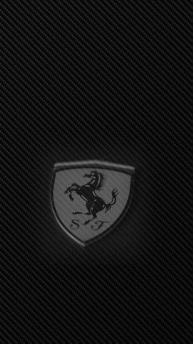 Ferrari Pin on Carbon Fiber
