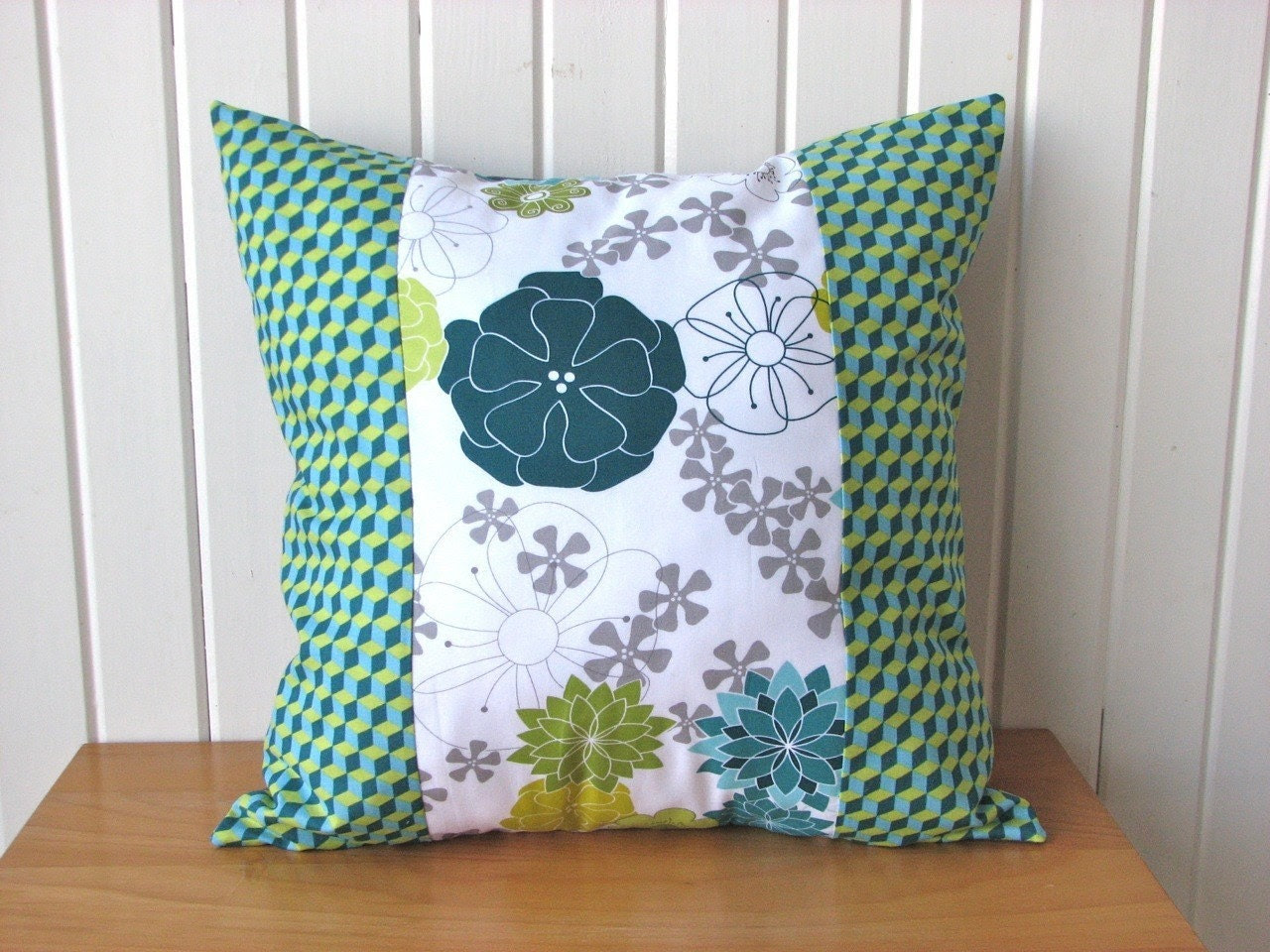 Pillow Cover in Aromatherapy in Seafoam - 16x16