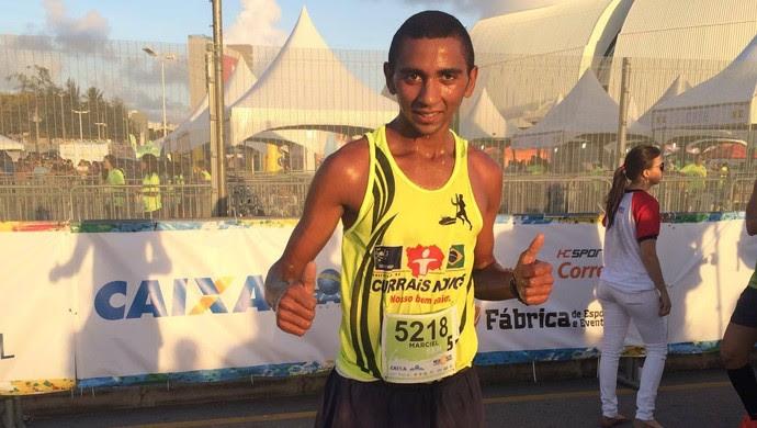 Marciel Miranda foi o primeiro colocado na prova de 5 Km da Meia Maratona do Sol. (Foto: Júlia Carvalho/GloboEsporte.com)