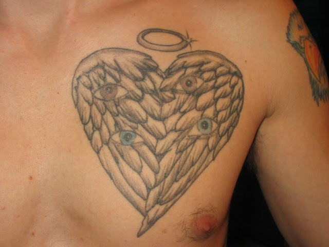 Heart Shaped Angel Wings Tattoo Picture