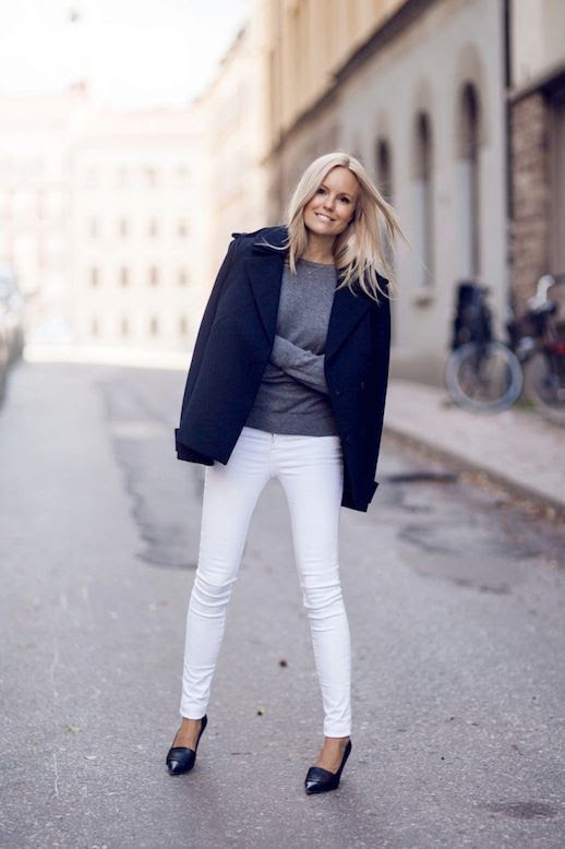 13 Le Fashion Blog 30 Fresh Ways To Wear White Jeans Navy Coat Grey Sweater Pumps Via Sofis Snapshot photo 13-Le-Fashion-Blog-30-Fresh-Ways-To-Wear-White-Jeans-Navy-Coat-Grey-Sweater-Pumps-Via-Sofis-Snapshot.jpg