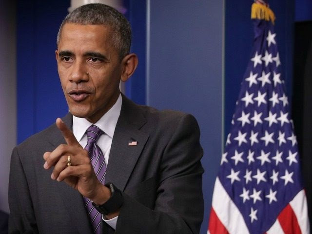 U.S. President Barack Obama speaks to student journalists at a 'daily briefing' at the James Brady Press Briefing Room of the White House April 28, 2016 in Washington, DC.
