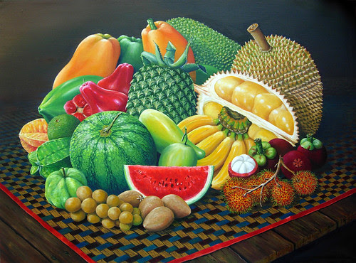 Tropical Fruits - Original Oil Painting