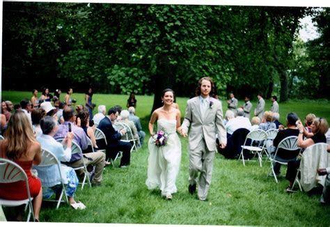 Lawn ceremony at Hines Hill Campus wedding venue in Ohio's