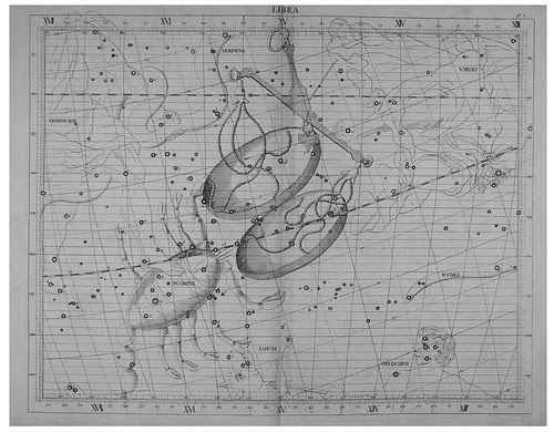 019-Libra-Atlas Coelestis 1753- John Flamsteed- Rare book collections the Vienna University Observatory