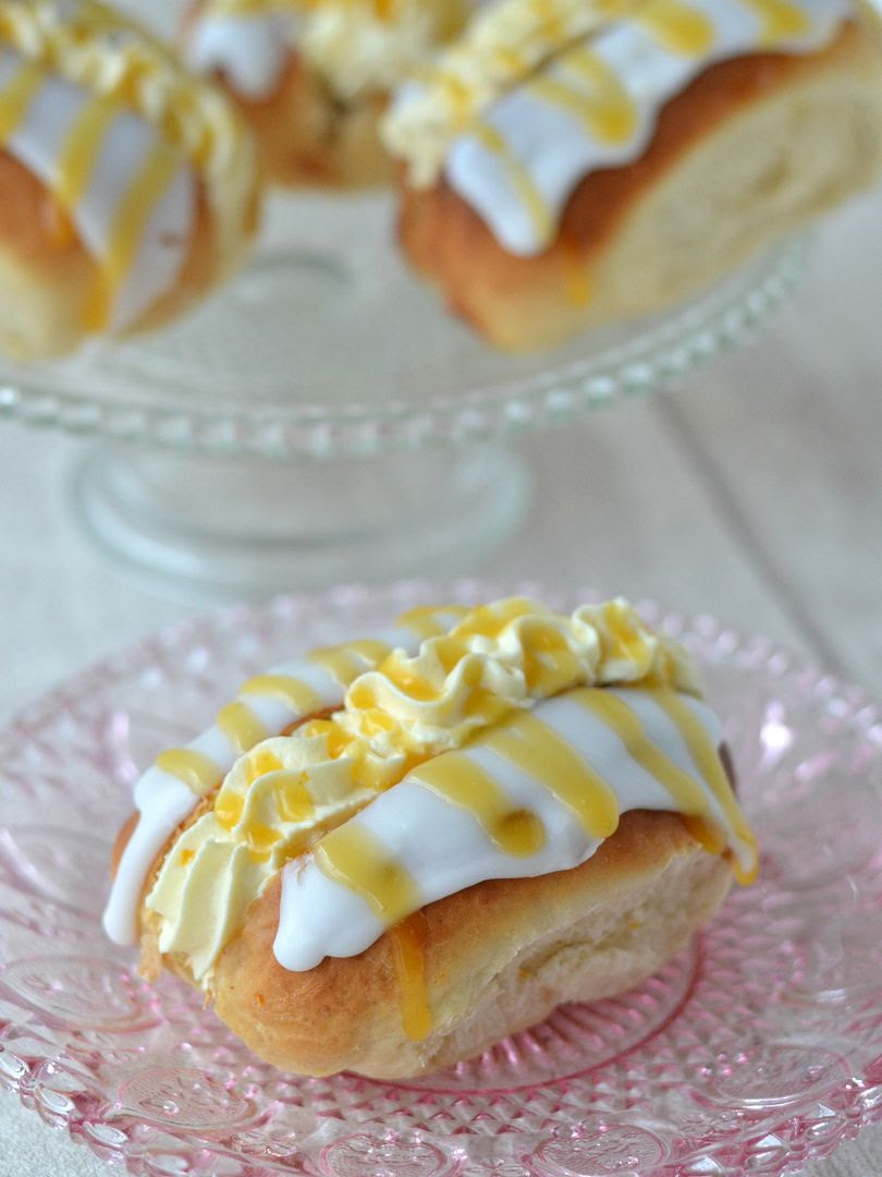 Honey & Orange Filled Iced Buns