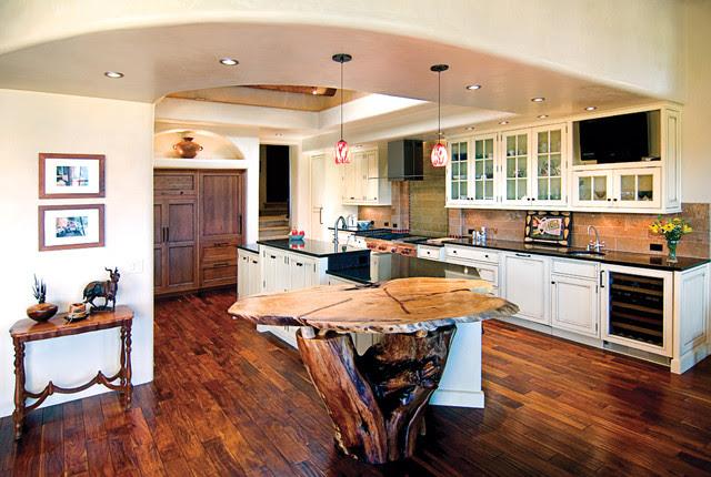 Santa Fe, NM Kitchen traditional-kitchen