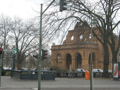 Remains of an old train station