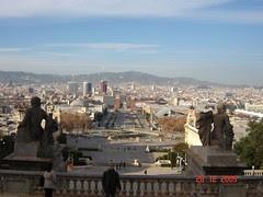 Pemandangan Barcelona dari atas Montjuic, Barcelona, Spain