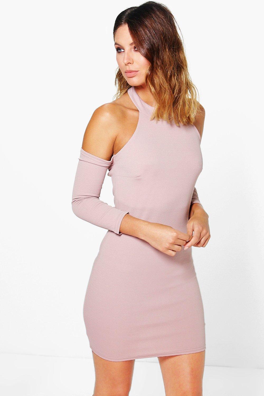 Size Shoulder Sleeve Bodycon Dresses Long Open Plain work manchester