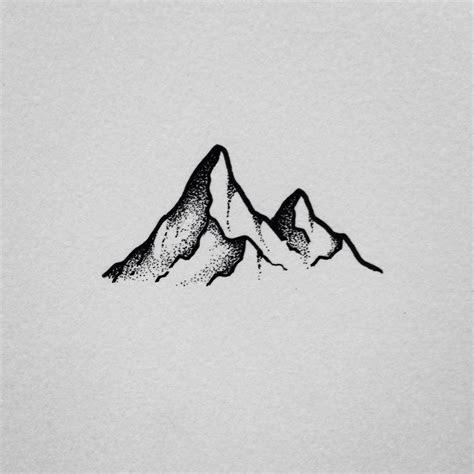 drawn mountain simple pencil   color drawn mountain