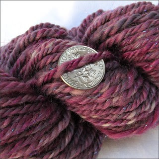 Pretty in Pink handspun, close-up