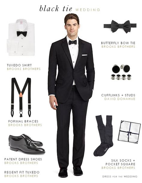 wear   formal black tie wedding mens style