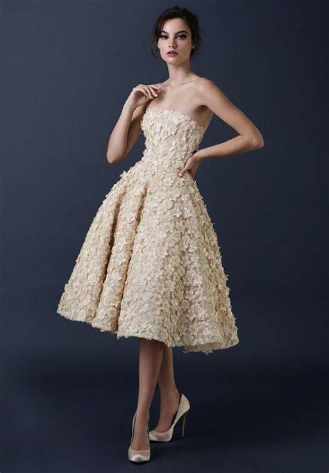 Tea Length Wedding Dresses for Classic Style   MODwedding