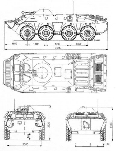 BTR-70 APC schematic drawing by Milgeek