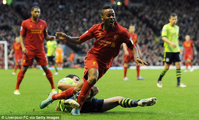 One to watch: Sterling has come to the fore this season under manager Brendan Rodgers