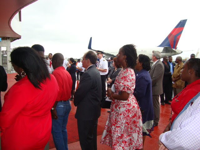 Delta's inaugural Monrovia flight in 2010