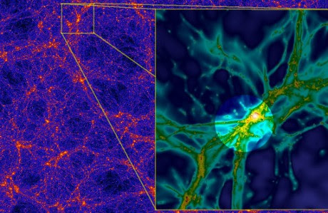 La ragnatela intergalattica osservata grazie a un quasar